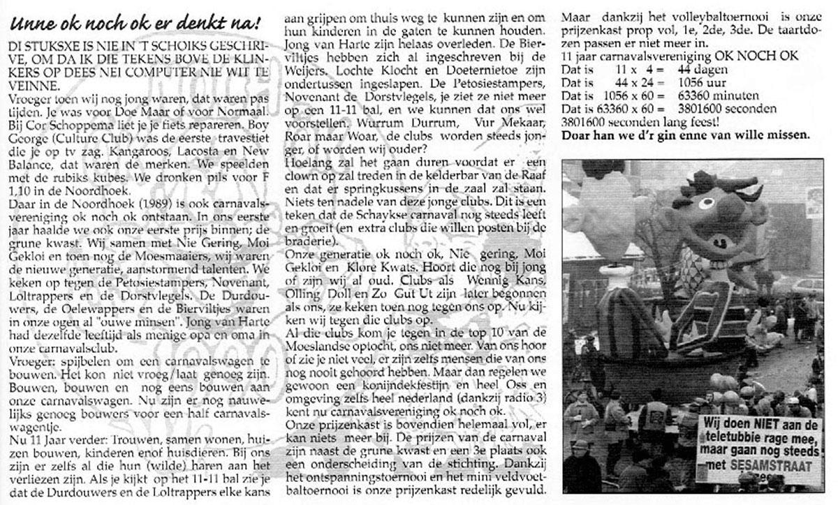 Carnavalskrant Ok Noch Ok - 2000