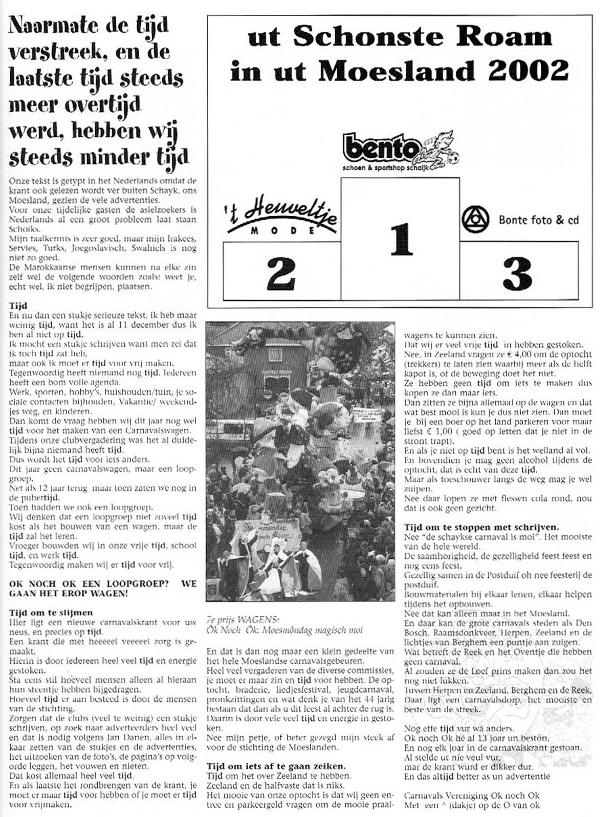Carnavalskrant Ok Noch Ok - 2003