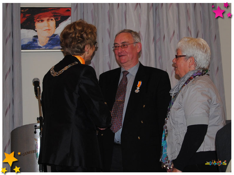 Frans van Boekel lid in de Orde van Oranje - 2012 Schaijk