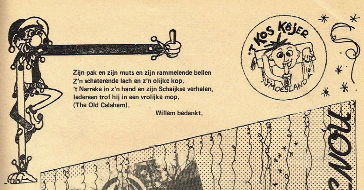 Stukje uit de carnavalskrant van 't Kos Kojer - 1982