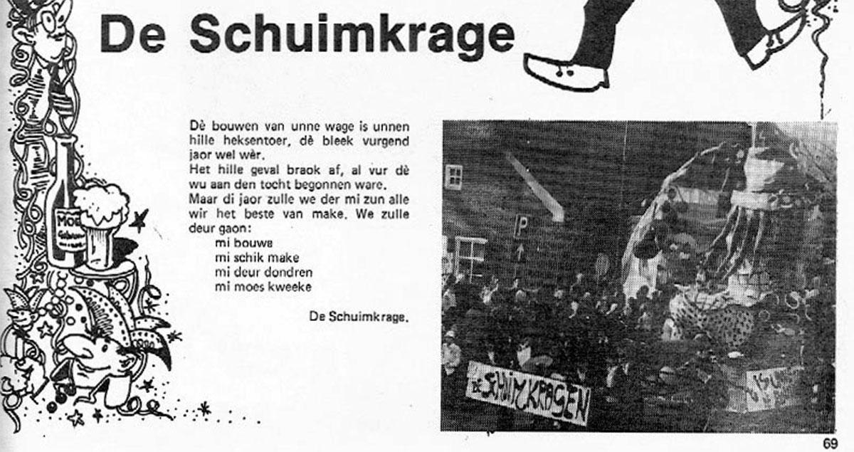 Stukje uit de carnavalskrant van de Schuimkragen - 1983