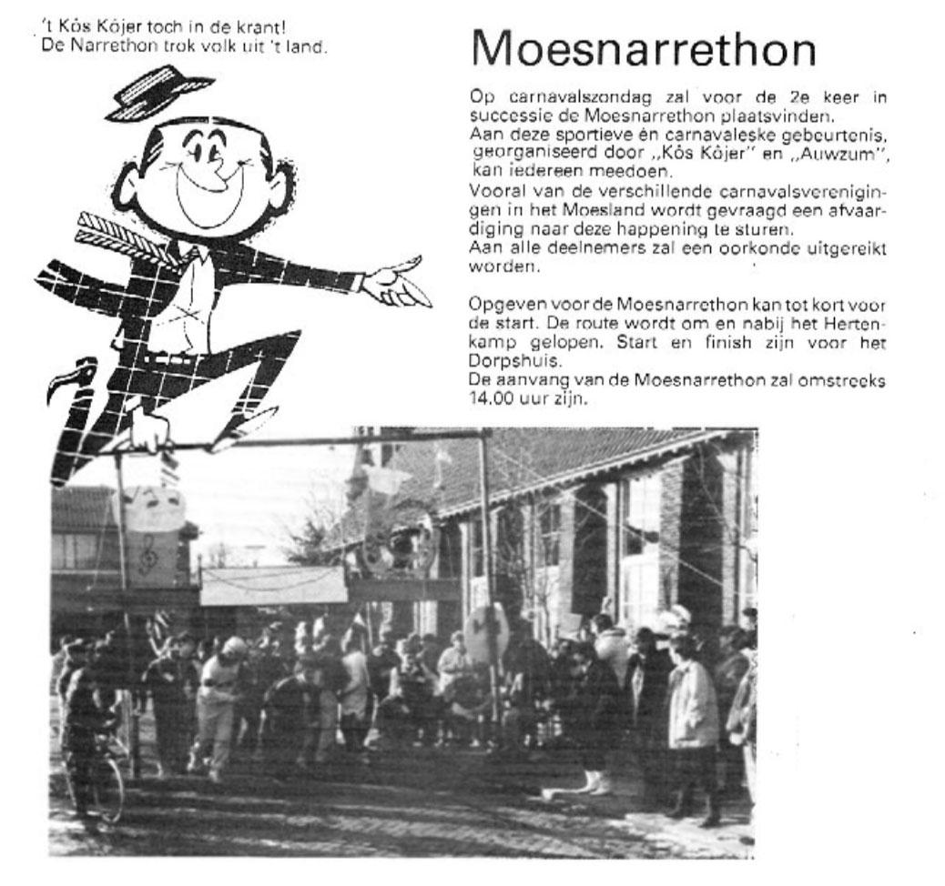 Stukje uit de carnavalskrant van 't Kos Kojer - 1986