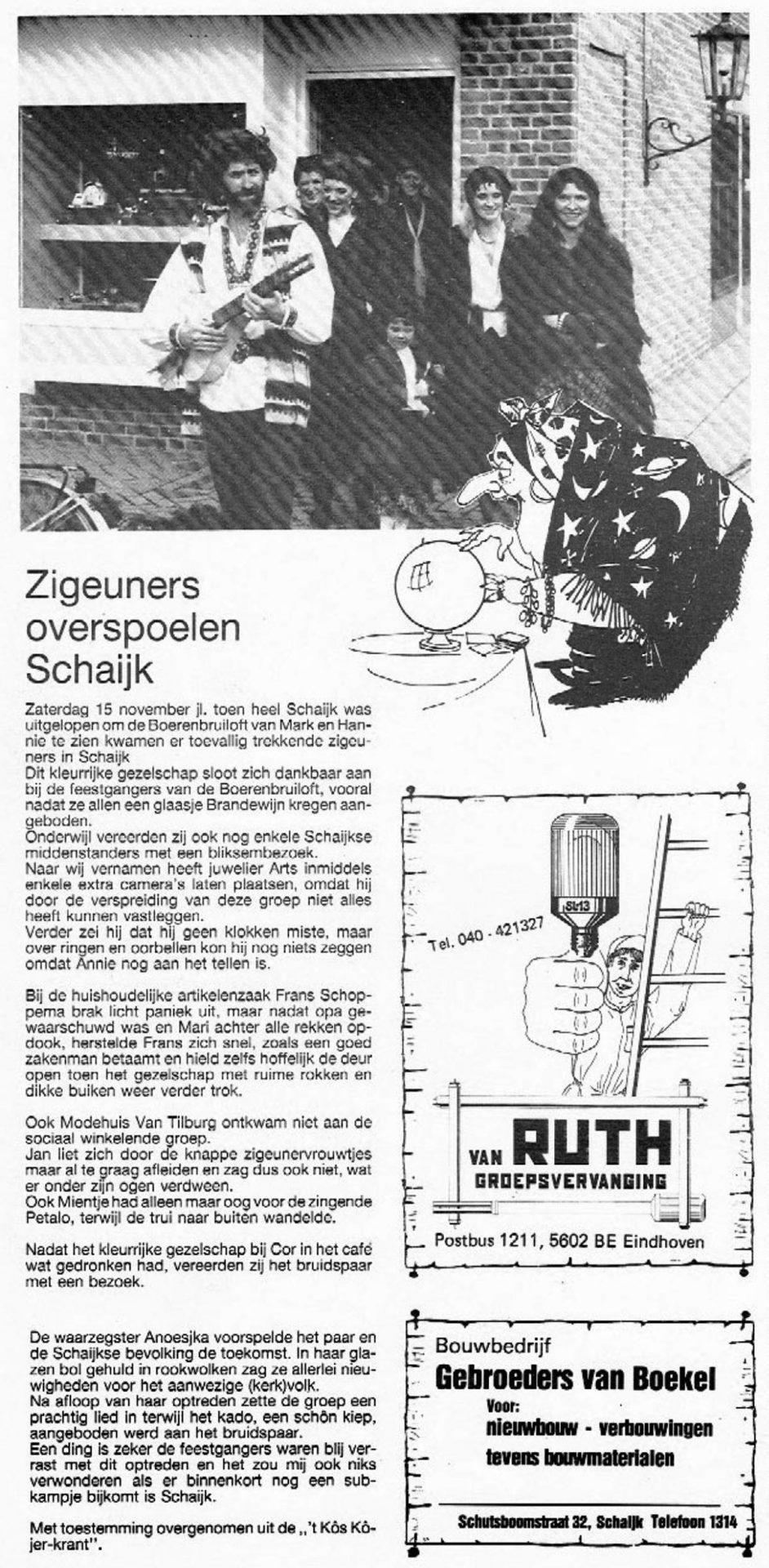 Stukje uit de carnavalskrant van 't Kos Kojer - 1988