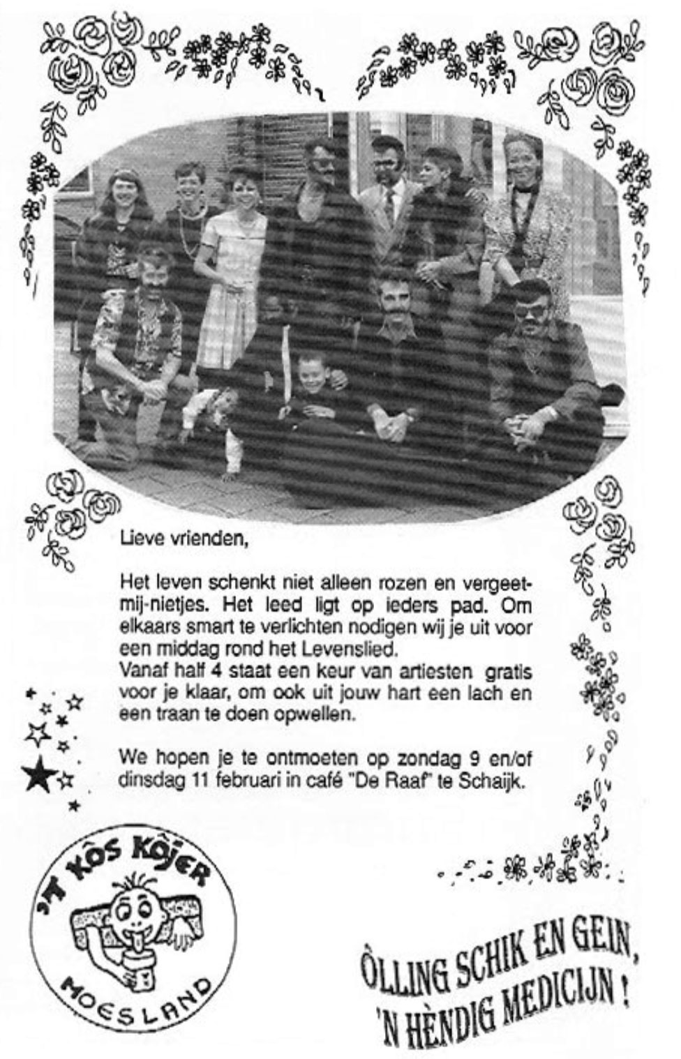 Stukje uit de carnavalskrant van 't Kos Kojer - 1997