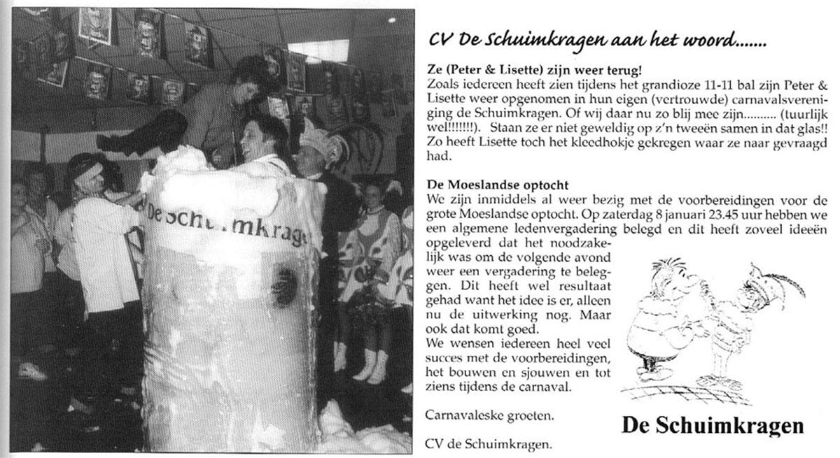 Stukje uit de carnavalskrant van de Schuimkragen - 2002