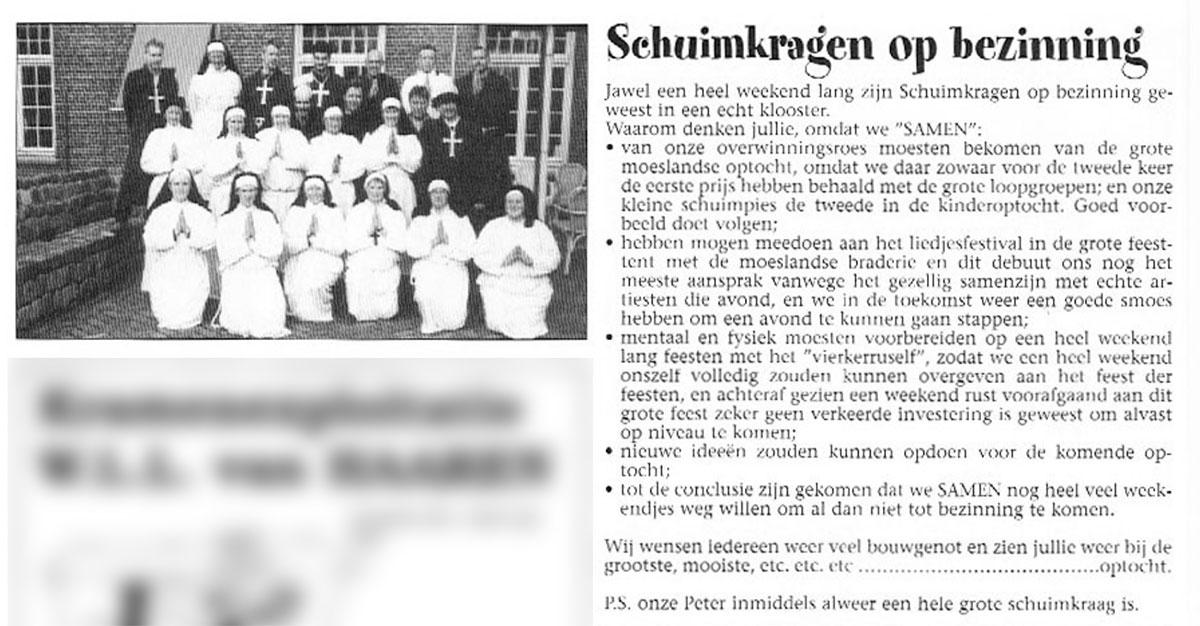 Stukje uit de carnavalskrant van de Schuimkragen - 2003