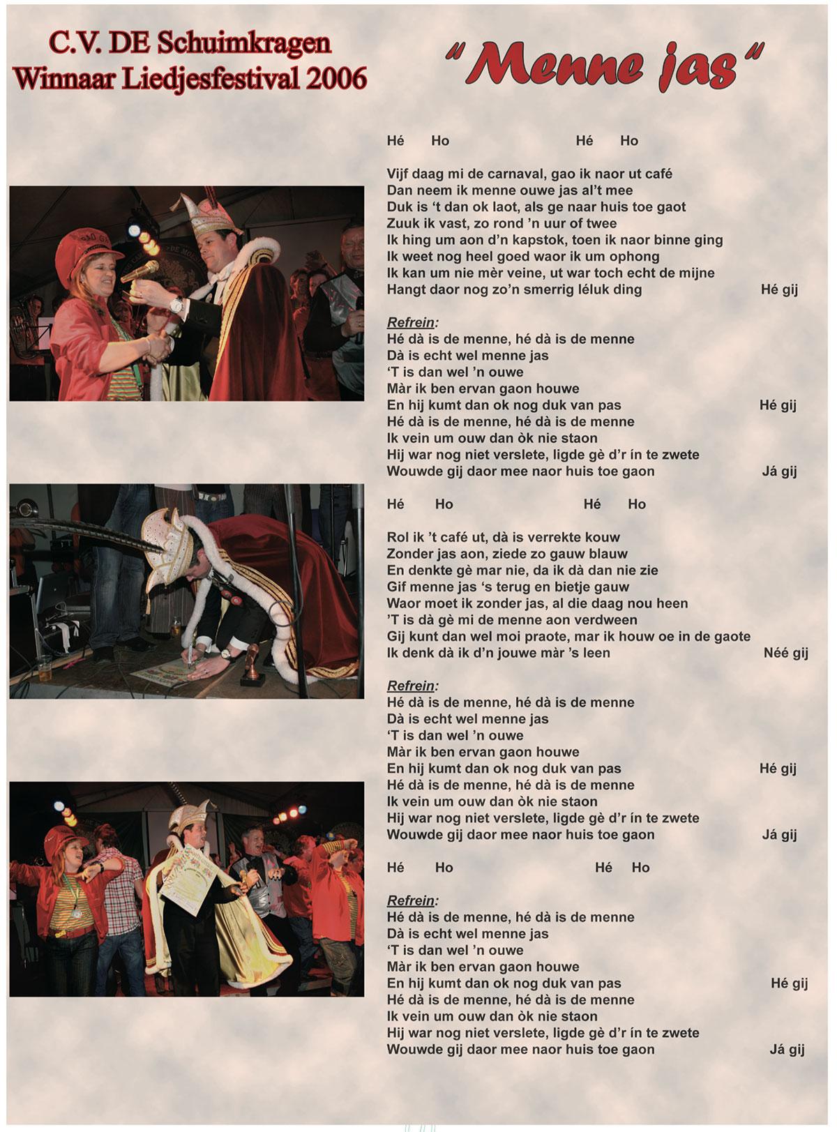 Stukje uit de carnavalskrant van de Schuimkragen - 2007