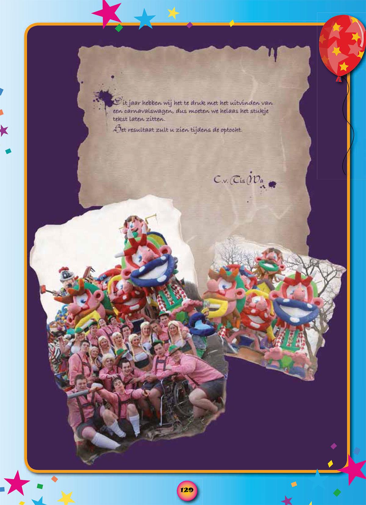 Stukje uit de carnavalskrant van Tis Wa - 2009