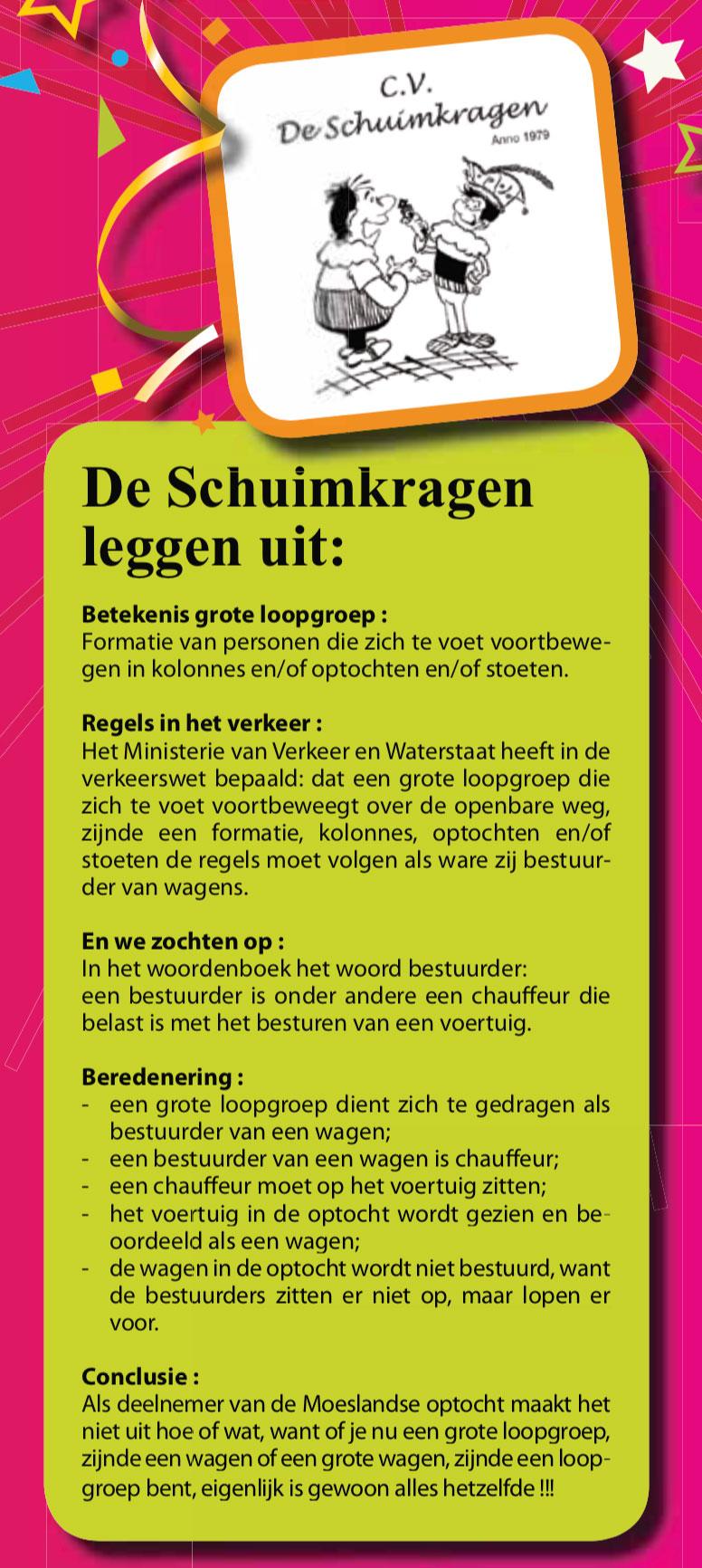 Stukje uit de carnavalskrant van de Schuimkragen - 2010