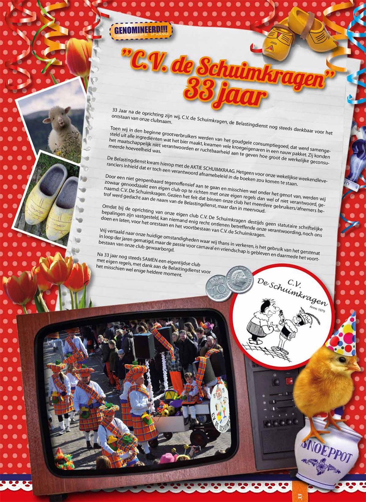 Stukje uit de carnavalskrant van de Schuimkragen - 2012