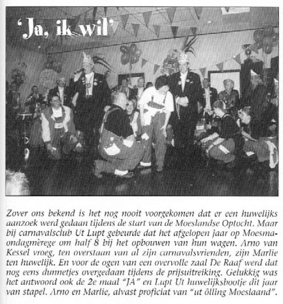 Stukje van Ut Lupt uit de carnavalskrant van Schaijk - 2003