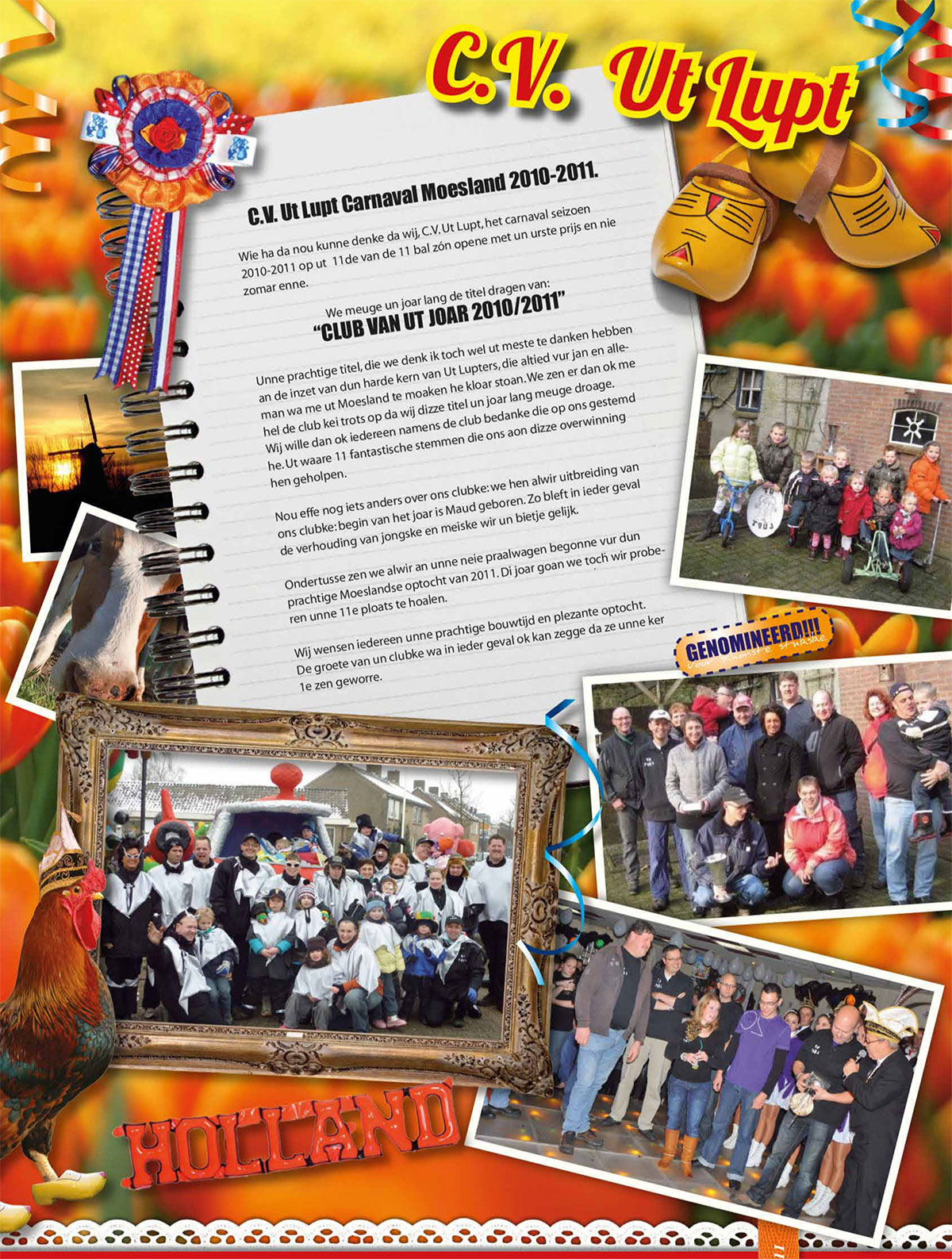 Stukje van Ut Lupt uit de carnavalskrant van Schaijk - 2011