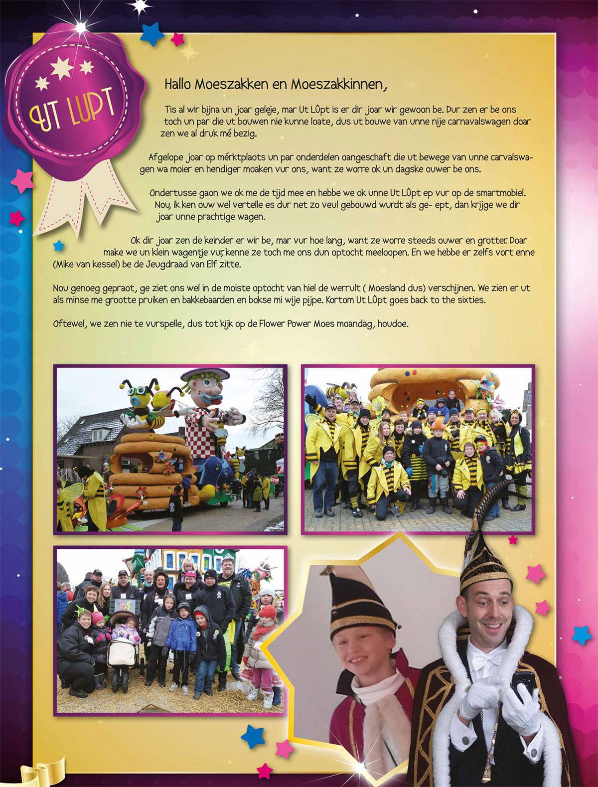Stukje van Ut Lupt uit de carnavalskrant van Schaijk - 2014
