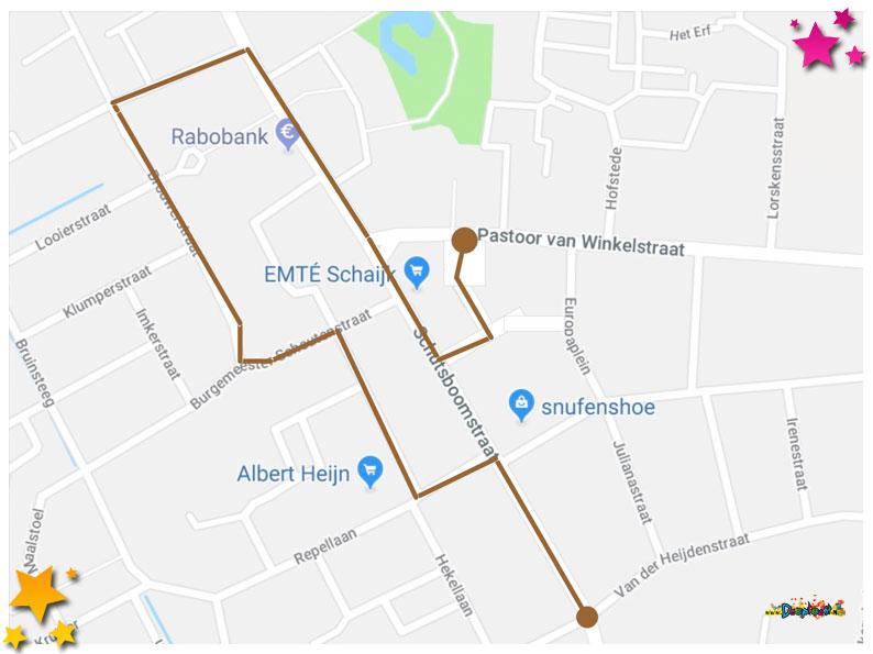 Nieuwe route optocht Moesland
