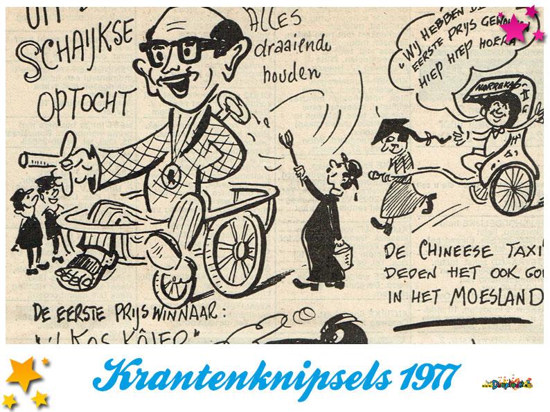 Krantenknipsels Moesland 1977