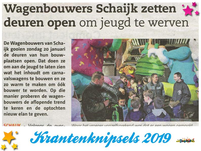 Krantenknipsels Moesland 2019