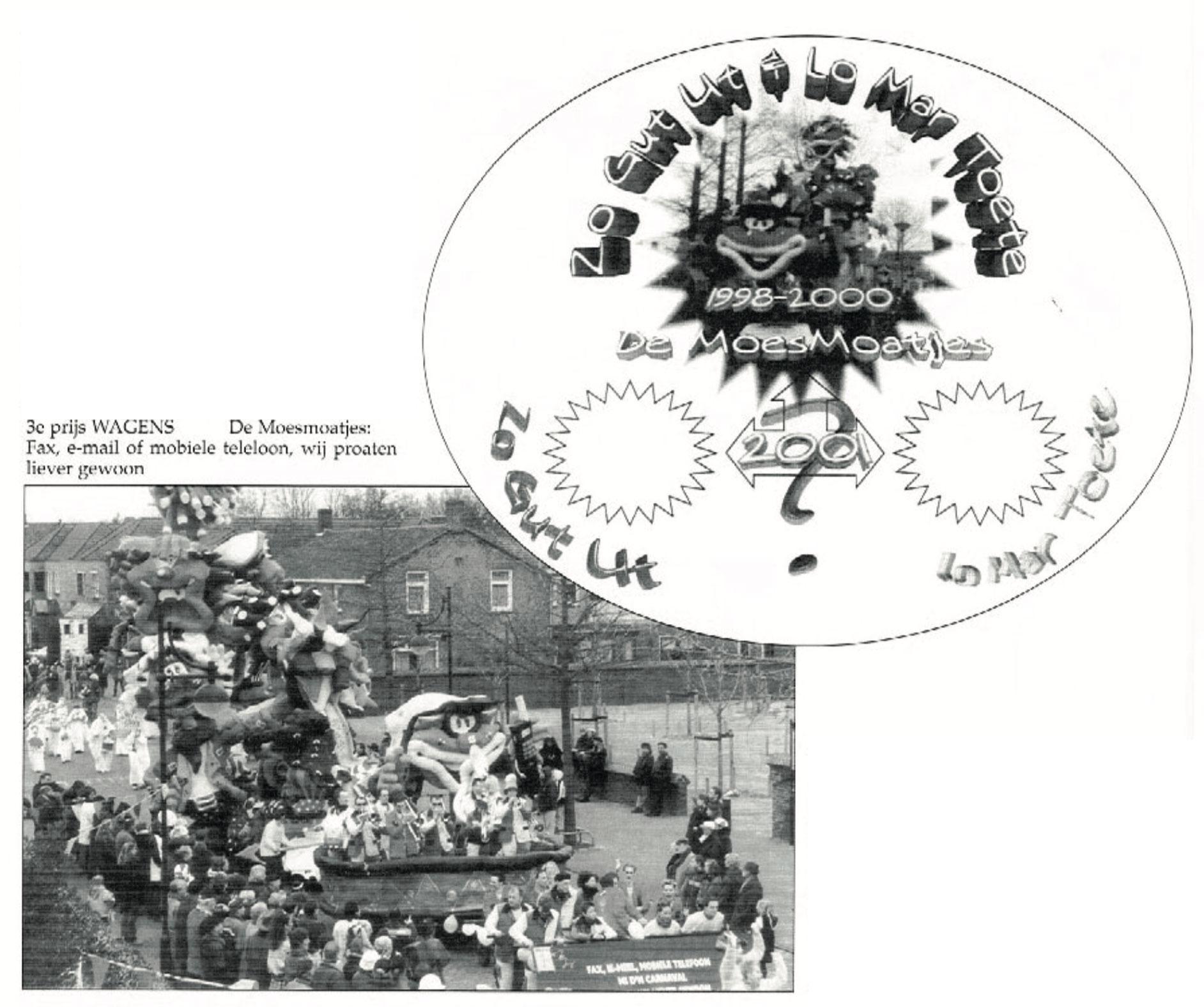 Stukje uit de carnavalskrant van Zo Gut Ut - 2001