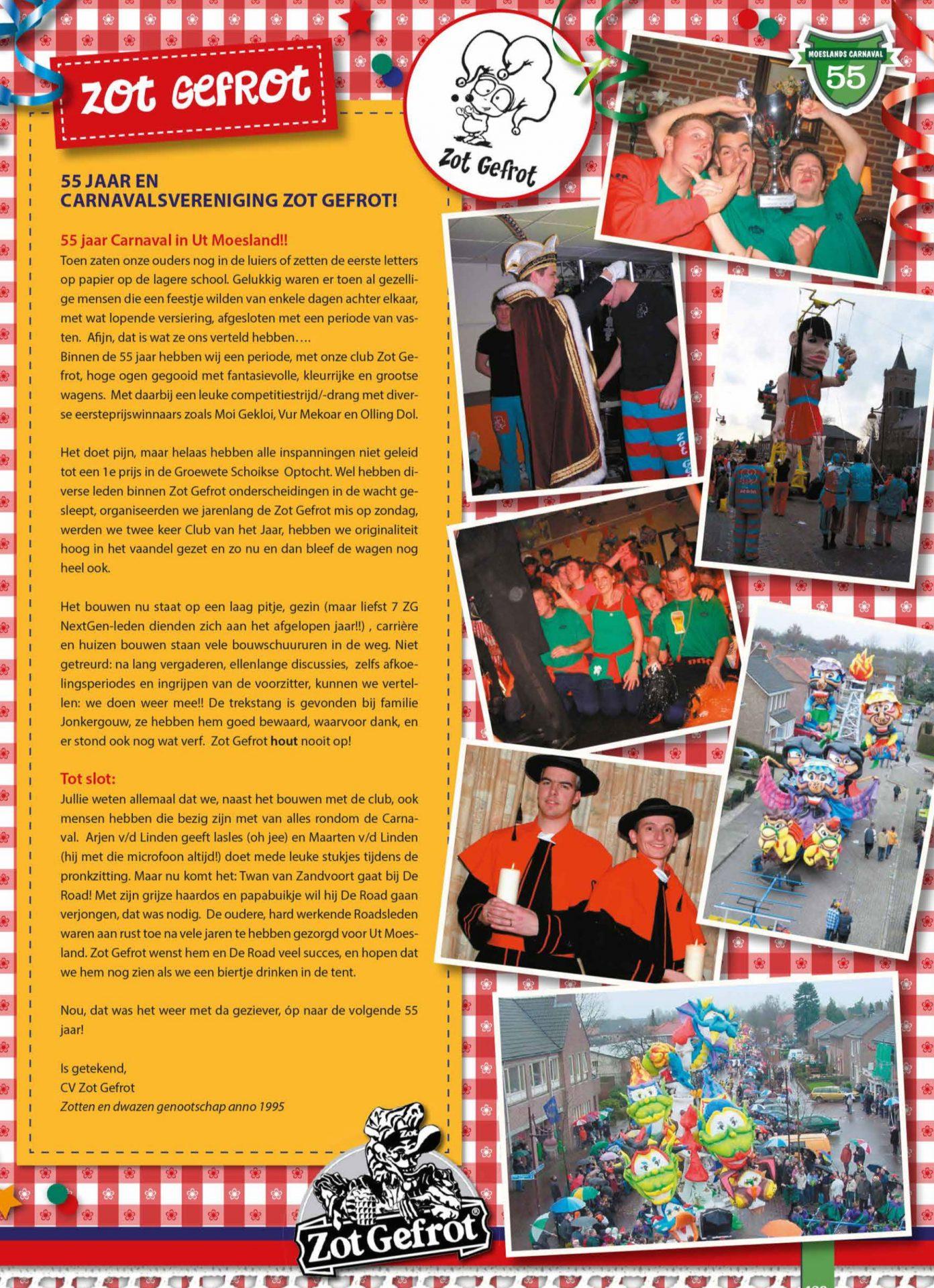 Stukje uit de carnavalskrant van Zot Gefrot - 2013