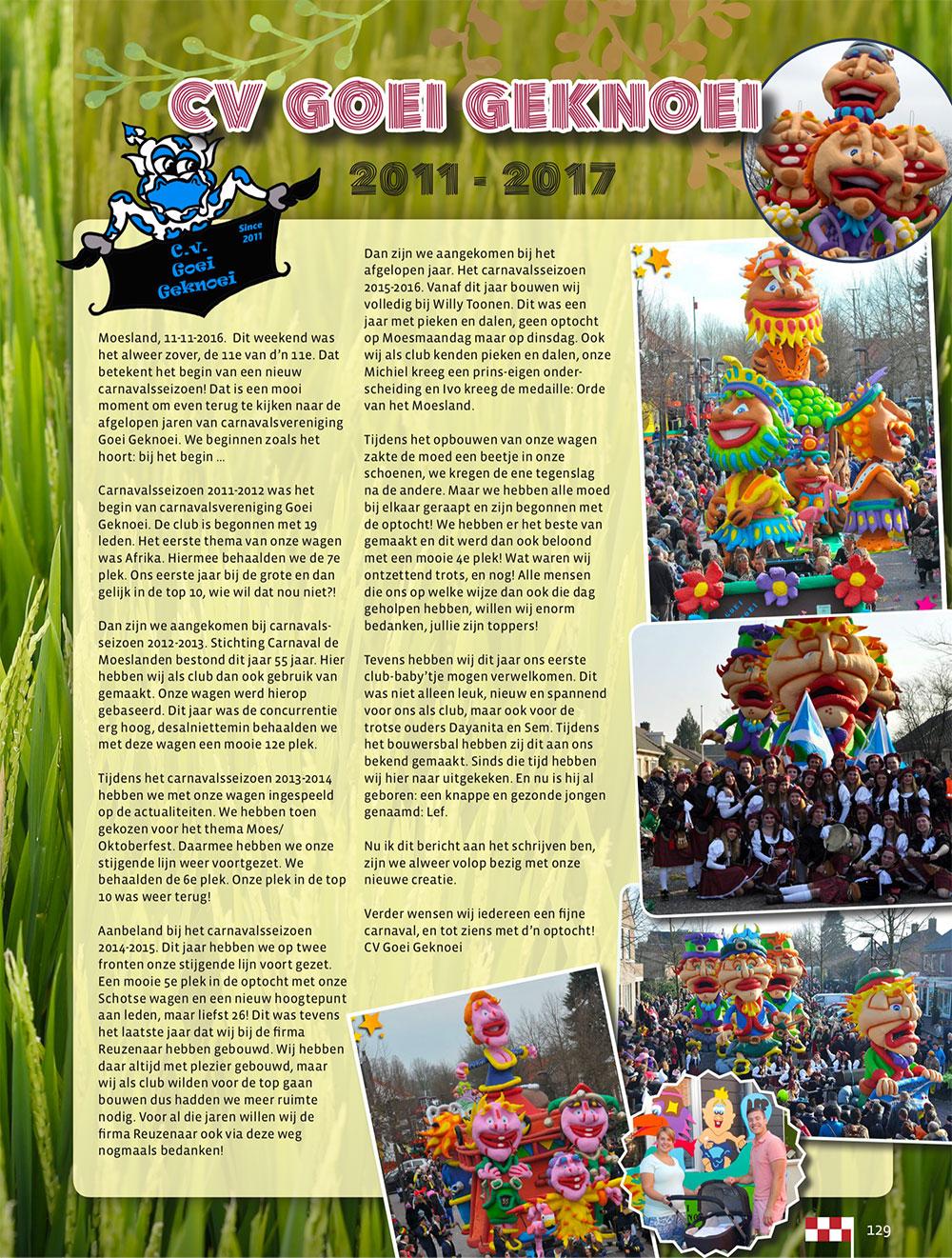Stukje uit de carnavalskrant van Goei Geknoei - 2017