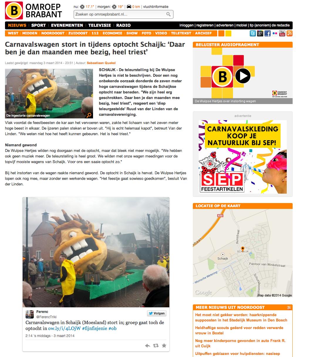 De Wulpse Hertjes op Omroep Brabant Radio - 2014