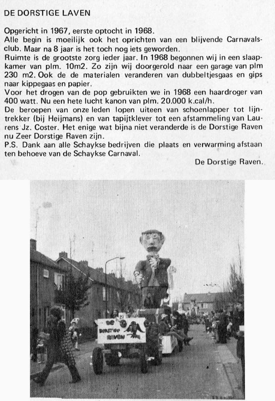 Stukje uit de carnavalskrant van de Dorstige Raven - 1976