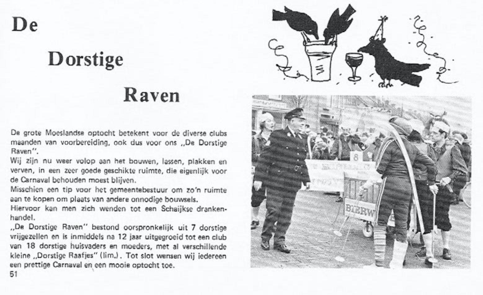Stukje uit de carnavalskrant van de Dorstige Raven - 1979