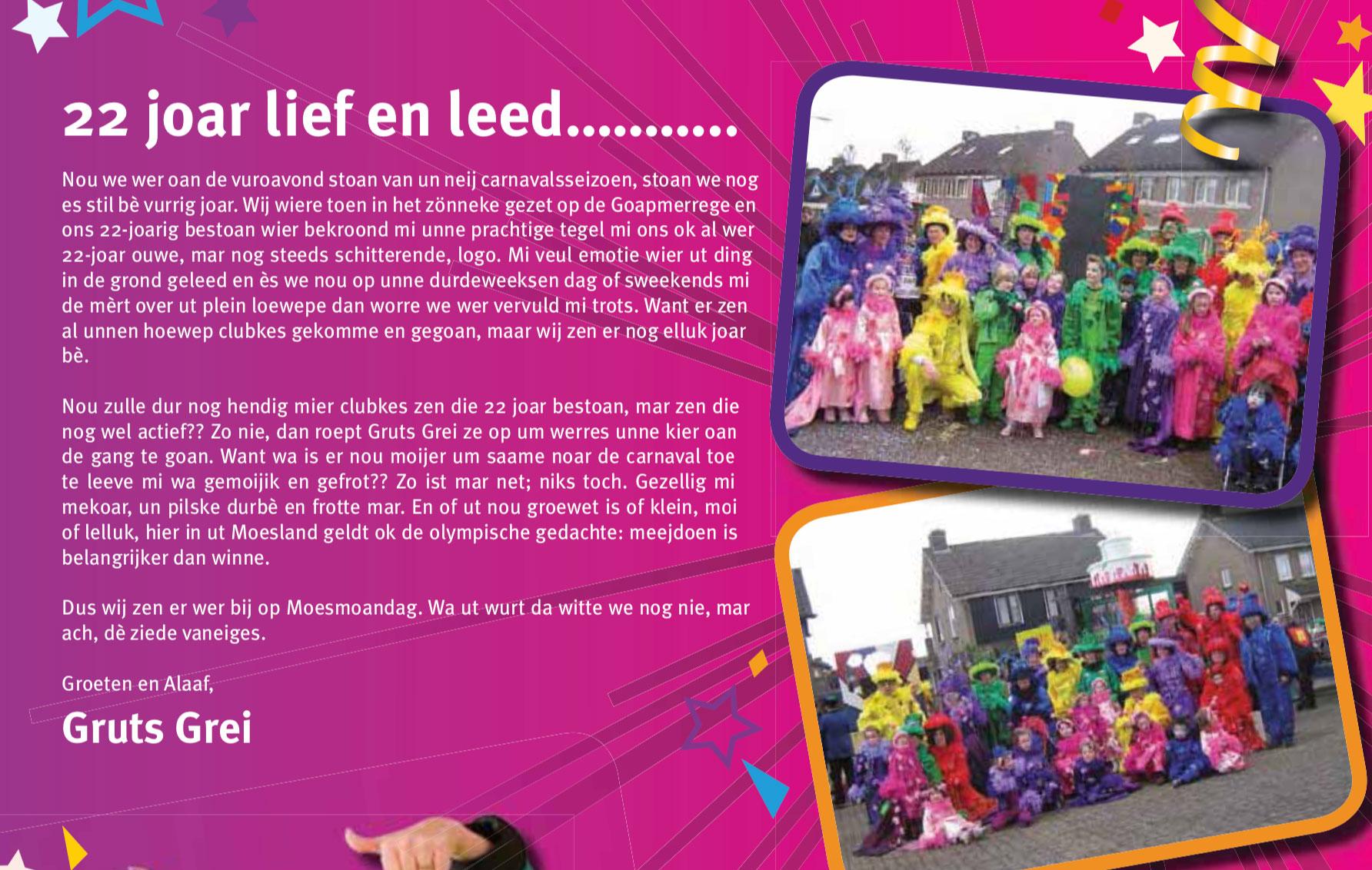 Stukje uit de carnavalskrant van Gruts Grei - 2010