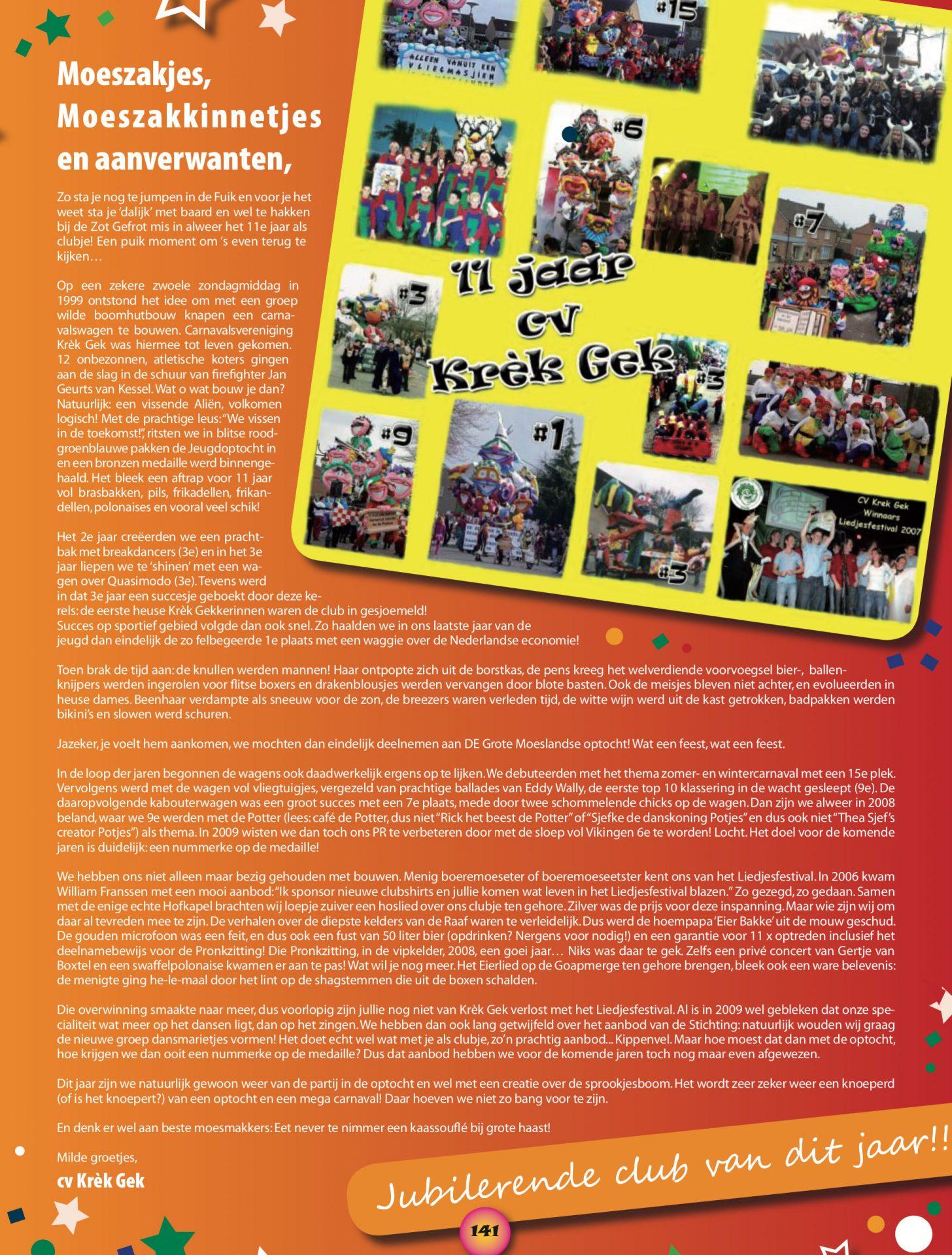 Stukje uit de carnavalskrant van Krek Gek - 2010