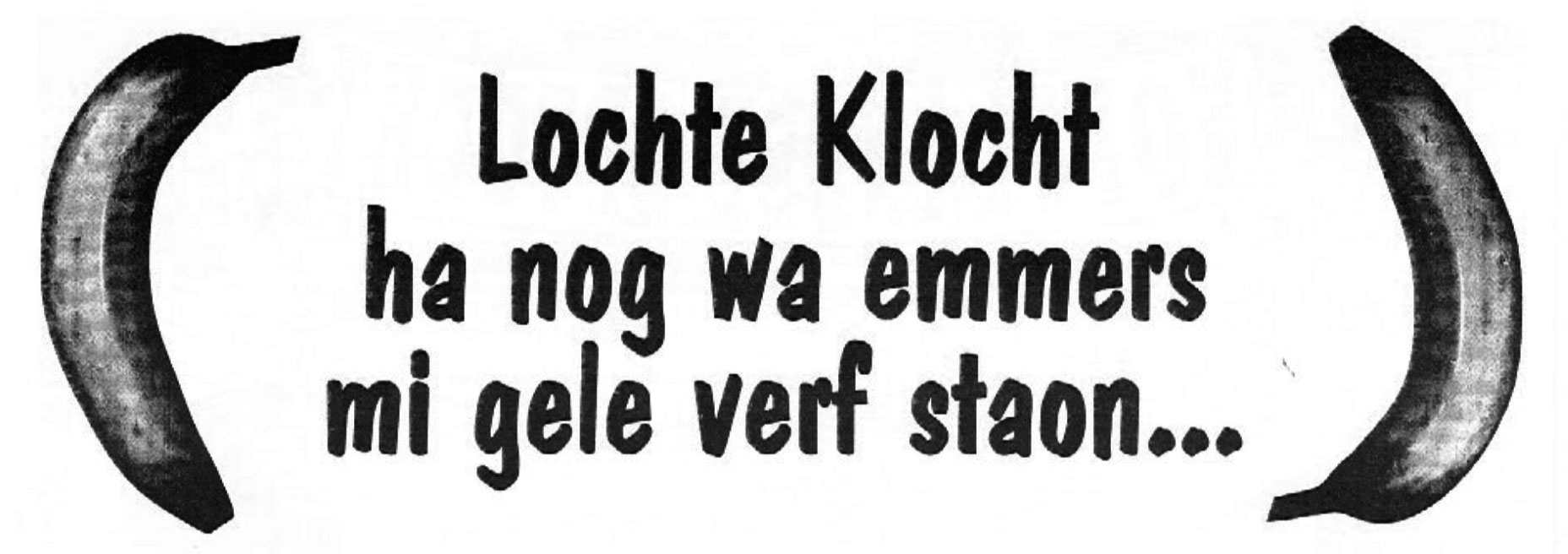 Stukje uit de carnavalskrant van Lochte Klocht - 1996