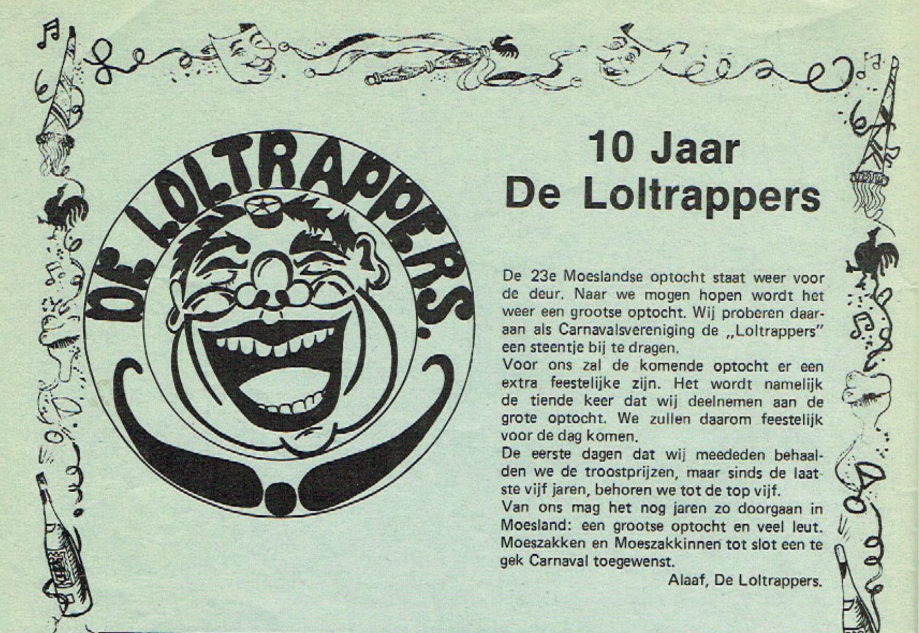 Stukje uit de carnavalskrant van de Loltrappers - 1982
