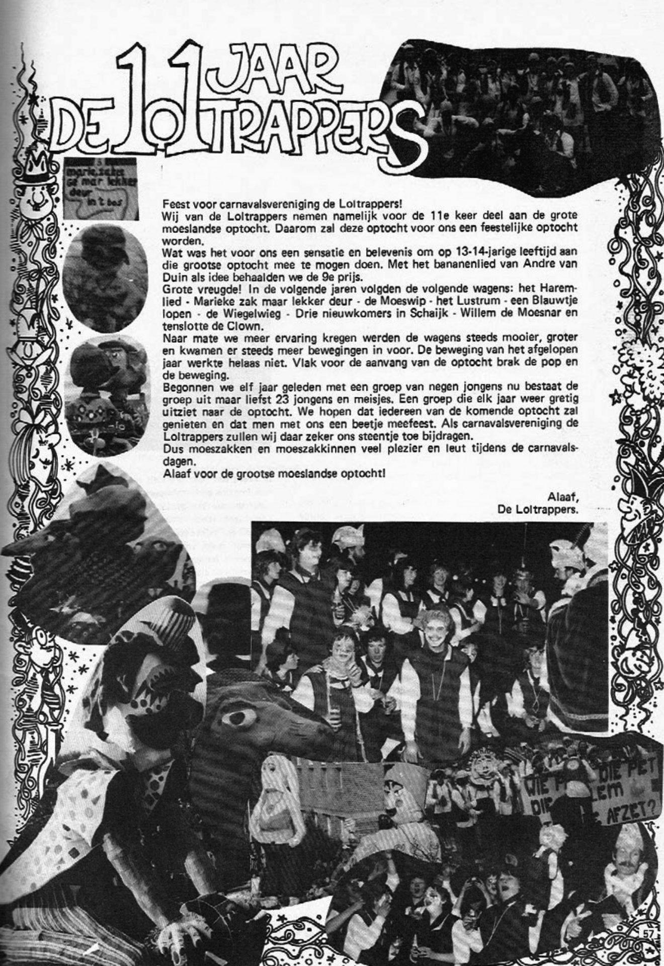 Stukje uit de carnavalskrant van de Loltrappers - 1983