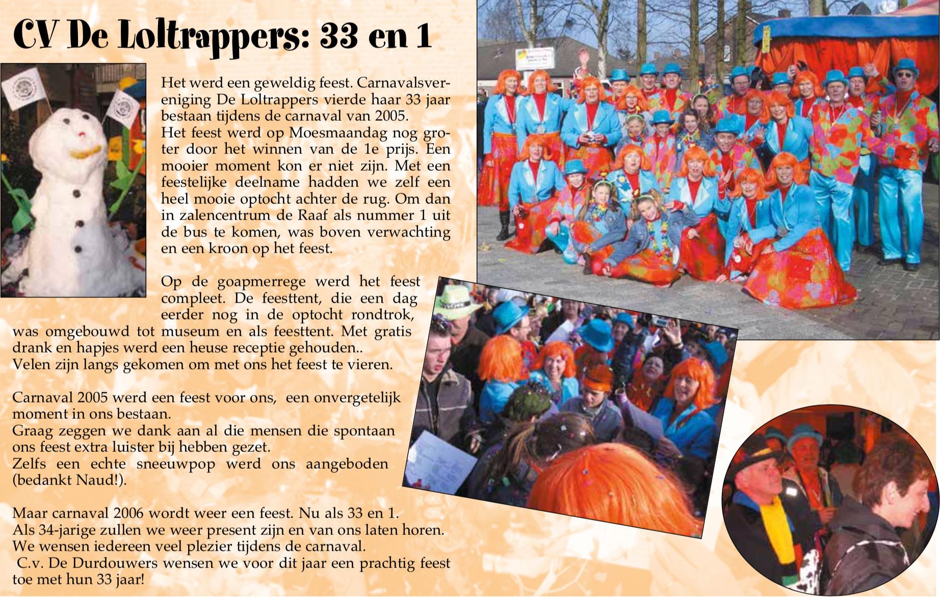Stukje uit de carnavalskrant van de Loltrappers - 2006