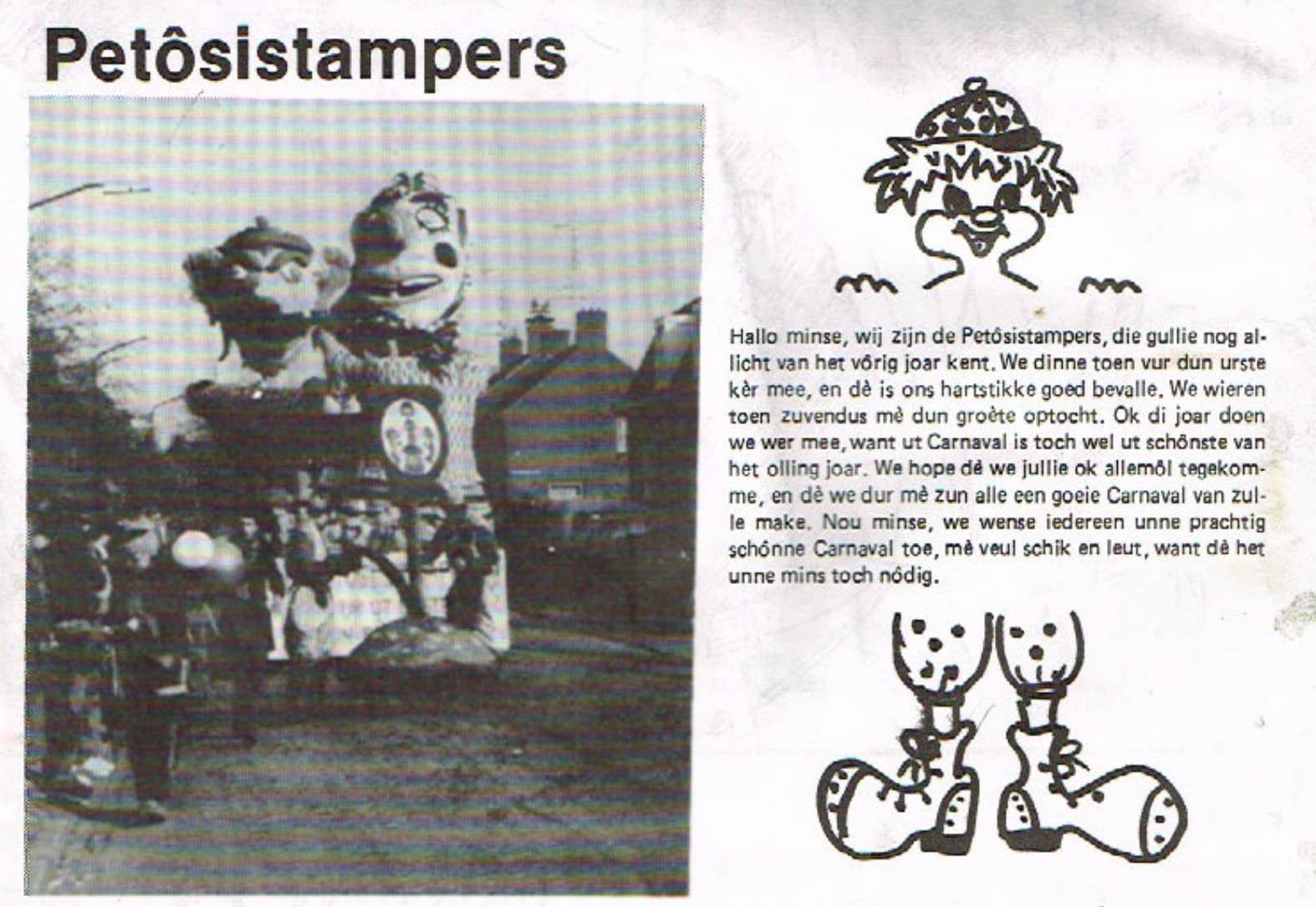 Stukje uit de carnavalskrant van de Petôsiestampers - 1984