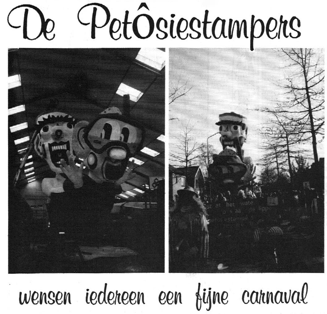 Stukje uit de carnavalskrant van de Petôsiestampers - 1995
