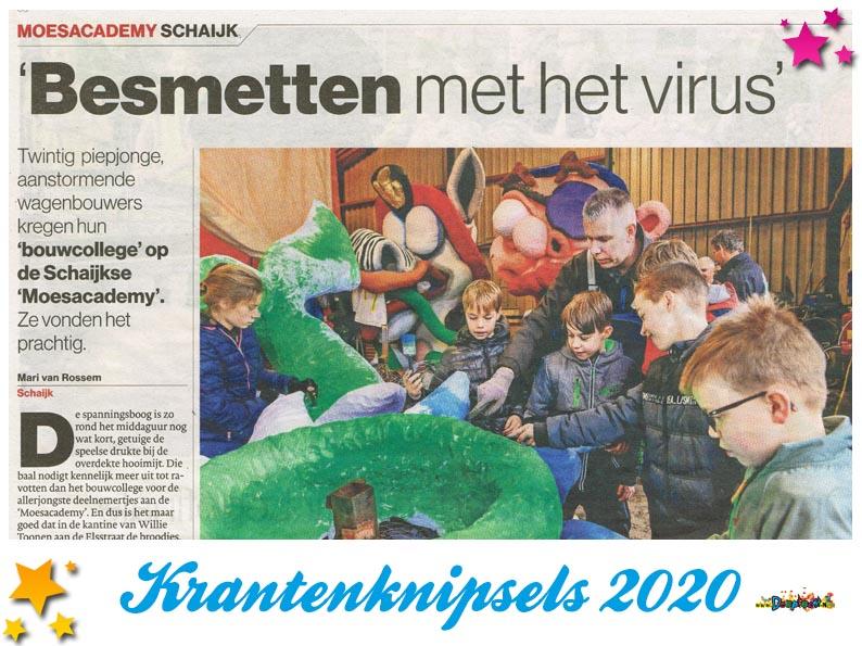 Krantenknipsels Moesland 2020