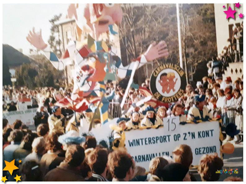 Carnavalsoptocht Schaijk - 1985 - Frotters
