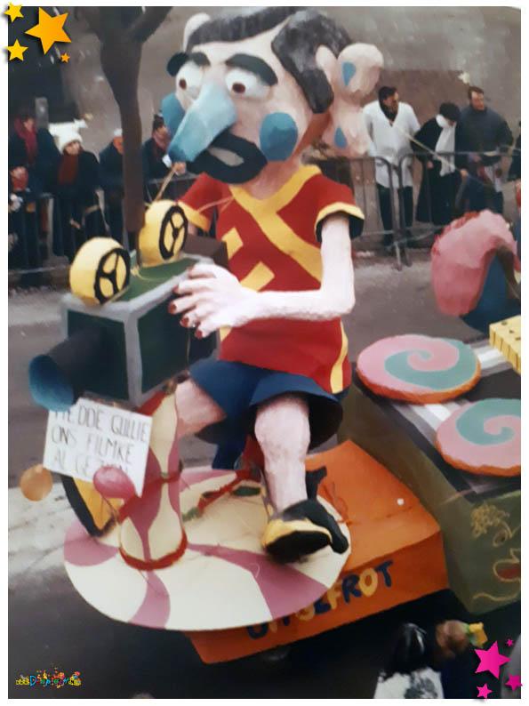 Carnavalsoptocht Schaijk - 1986 - De Frotters