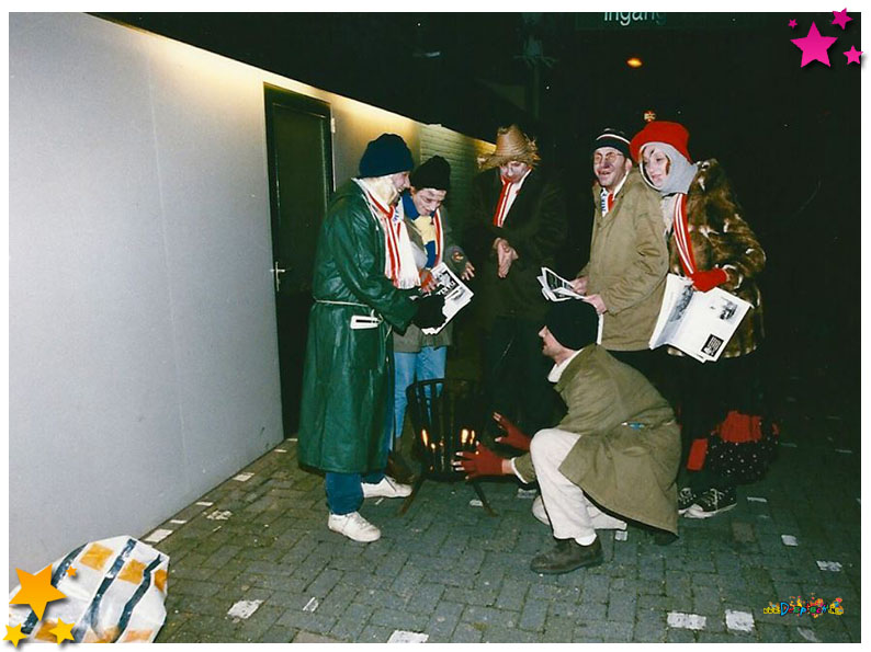 Daklozen bij de pronkzitting van 1999