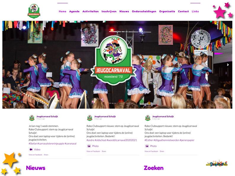 Website jeugdcarnavalschaijk.nl in nieuw jasje