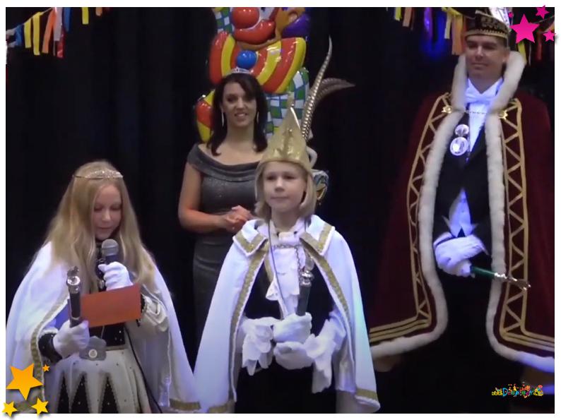 Jeugprins Tijn I en Jeugdprinses Sanne 2 nieuwse heersers Jeugdcarnaval Schaijk
