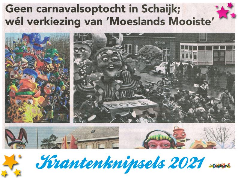 Krantenknipsels Moesland 2021