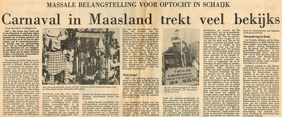 Stuk uit het Brabants Dagblad van de Bierviltjes - 1976