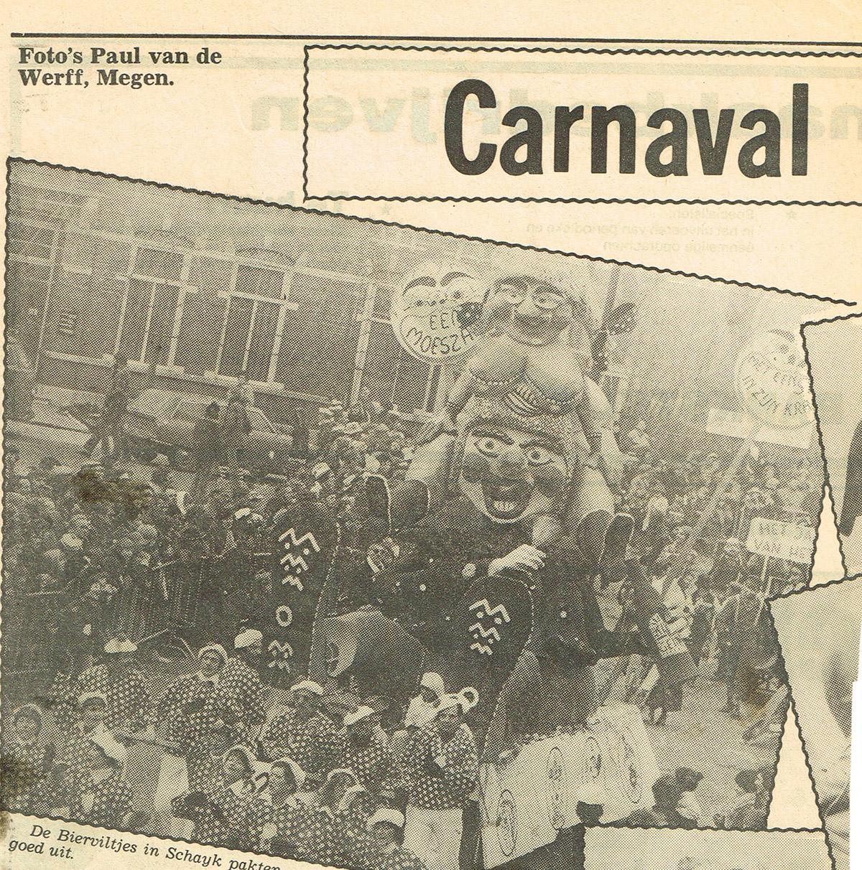 Stuk uit Weekblad Regio Oss van de Bierviltjes - 1979
