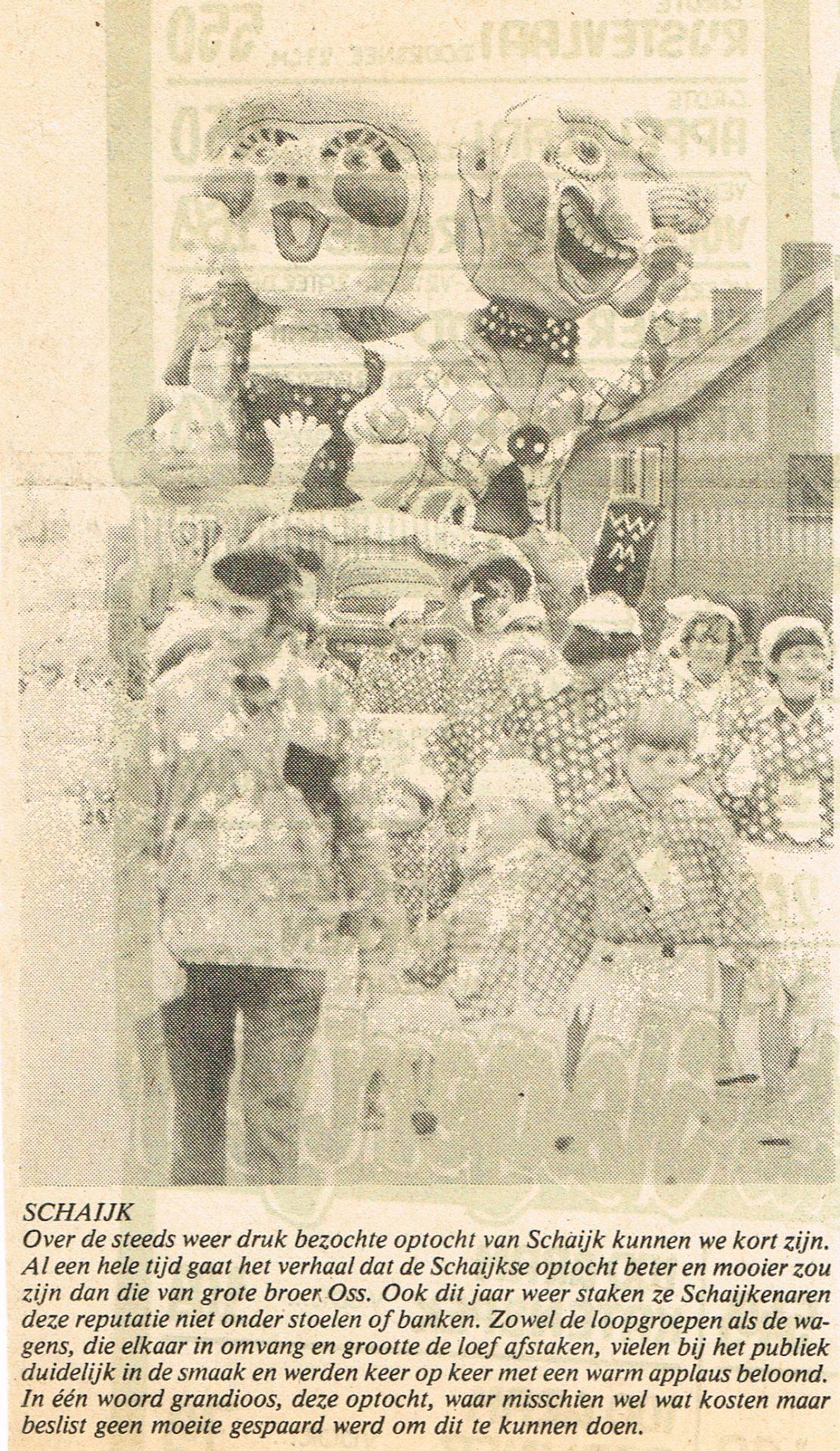 Stuk uit Weekblad Regio Oss van de Bierviltjes - 1981