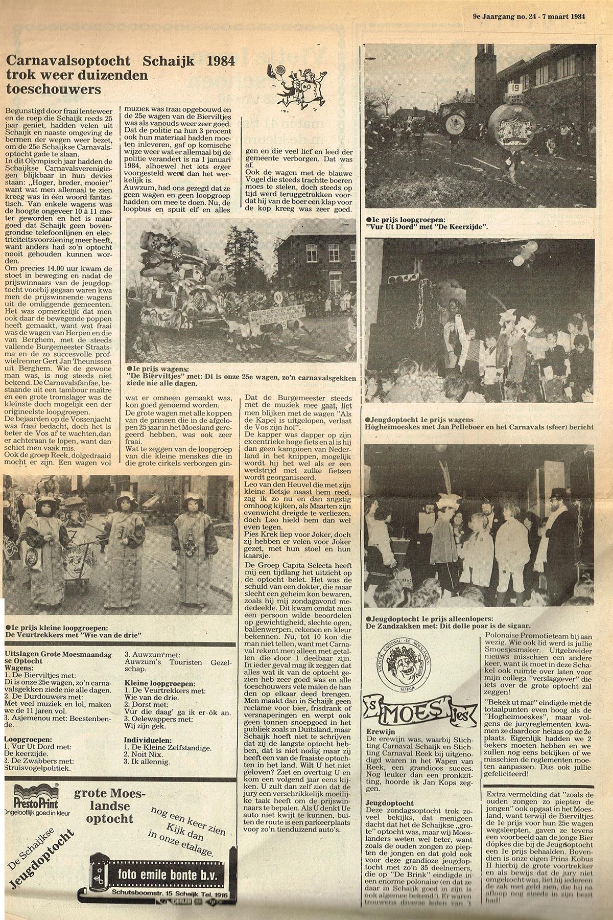 Stuk uit de Schakel van de Bierviltjes - 1984