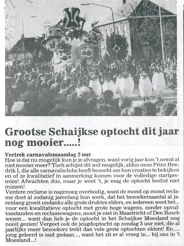 Stuk uit de Schakel van de Bierviltjes - 1986