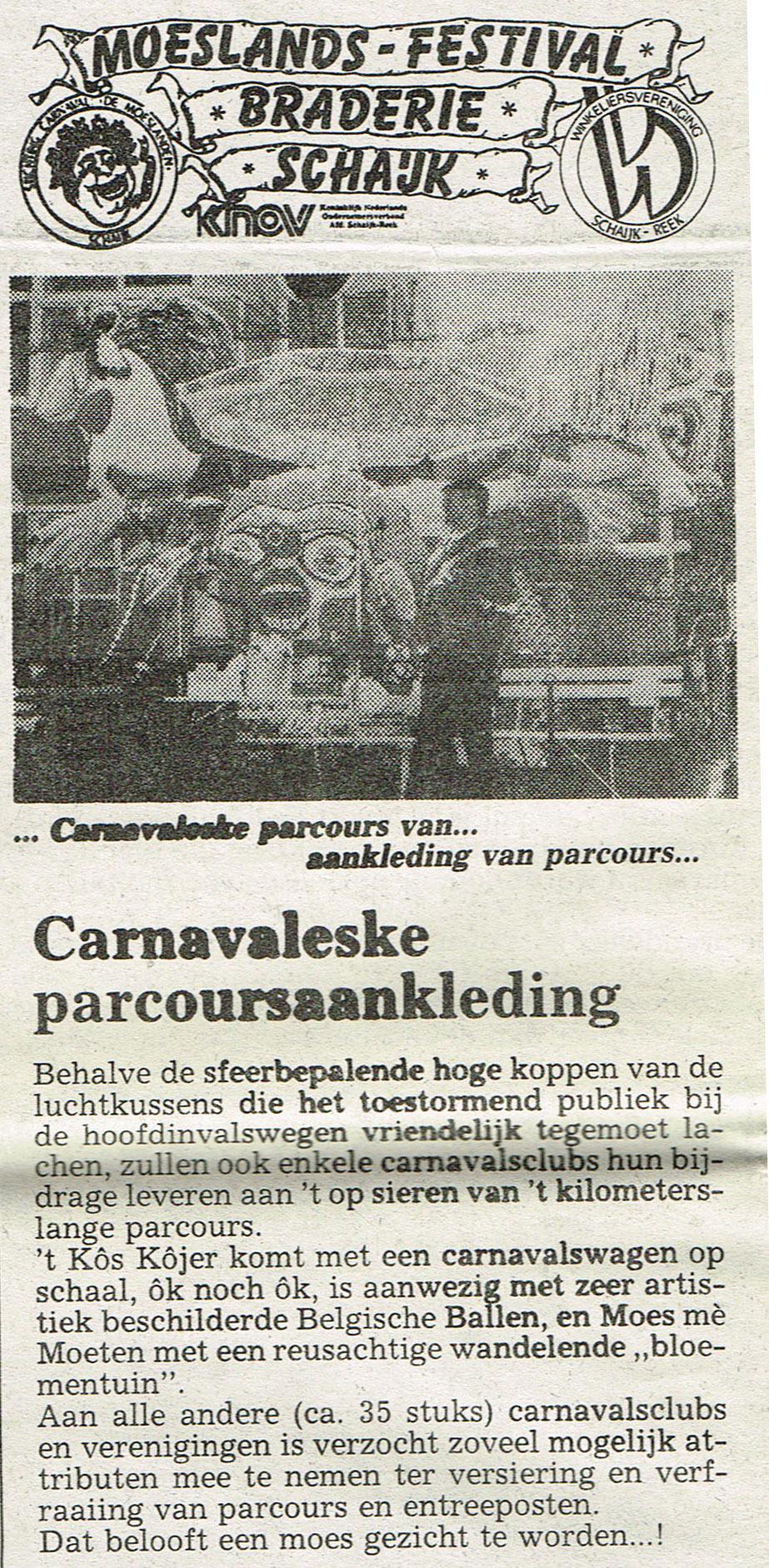 Stuk uit de Schakel van de Bierviltjes - 1990