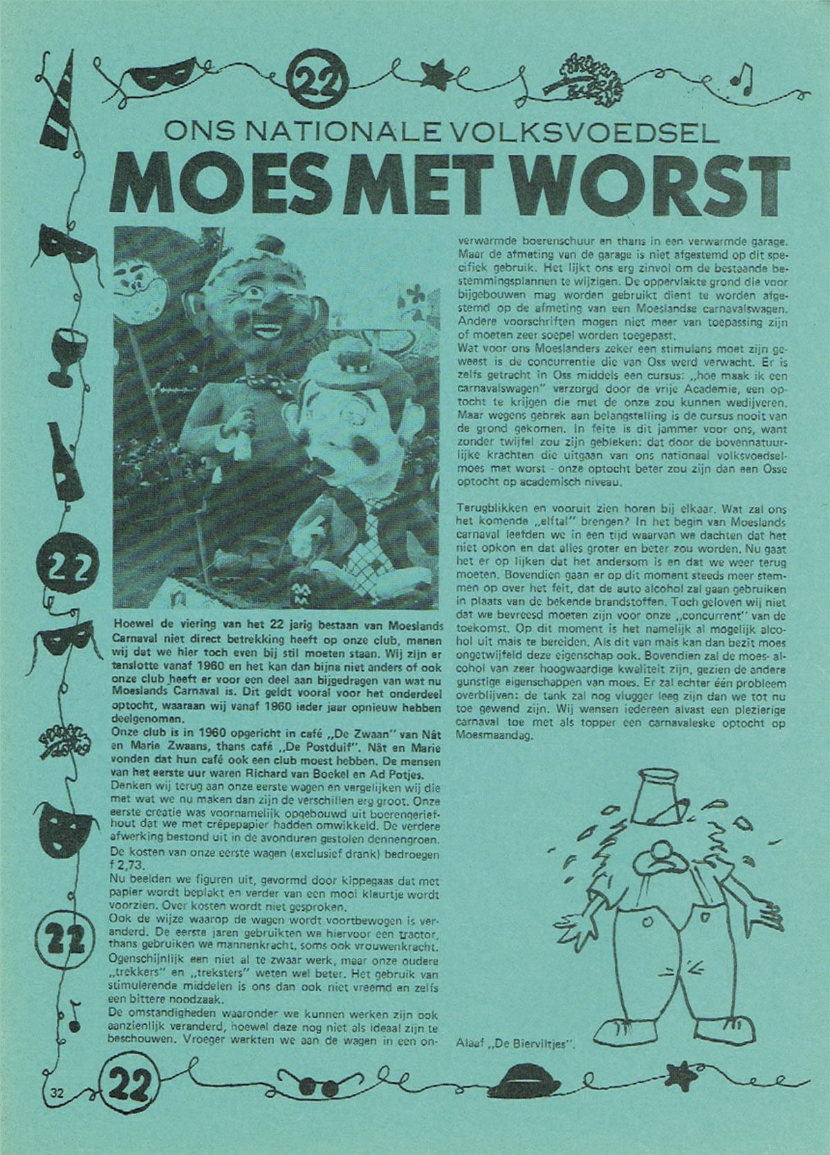 Stuk uit de carnavalskrant van de Bierviltjes - 1981