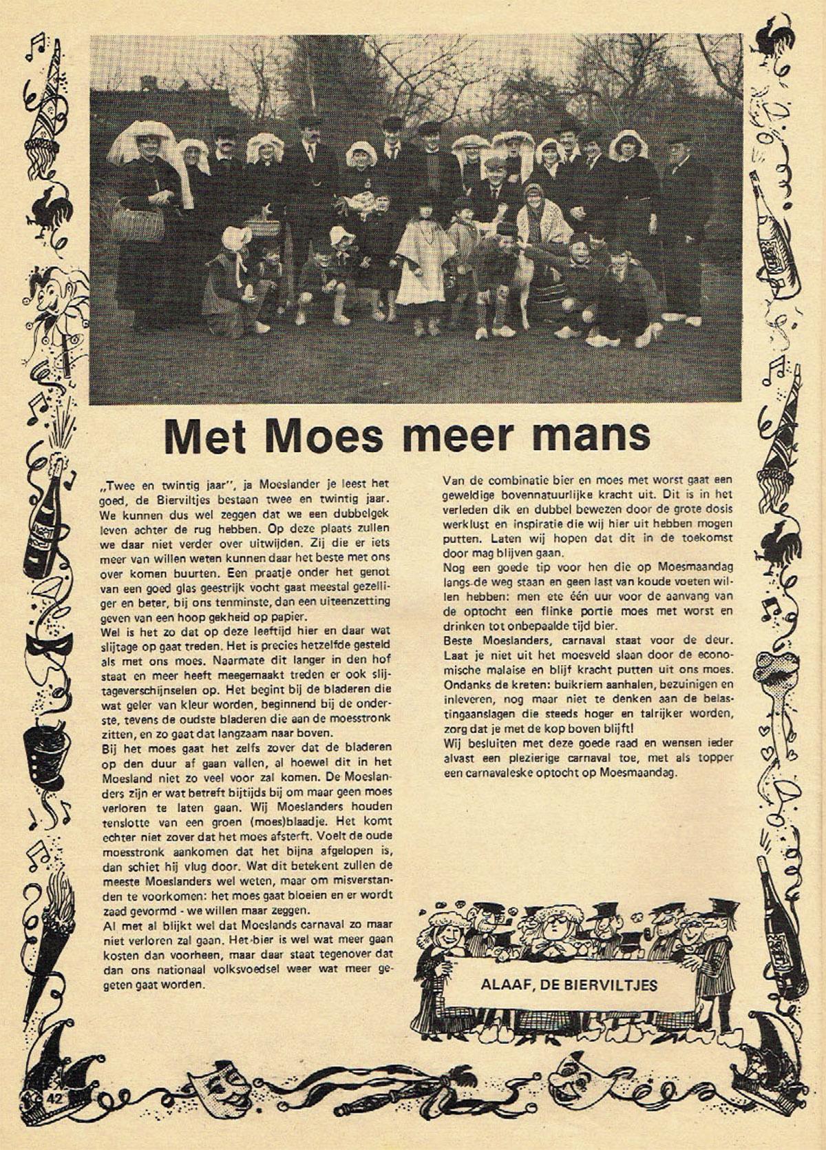 Stuk uit de carnavalskrant van de Bierviltjes - 1982