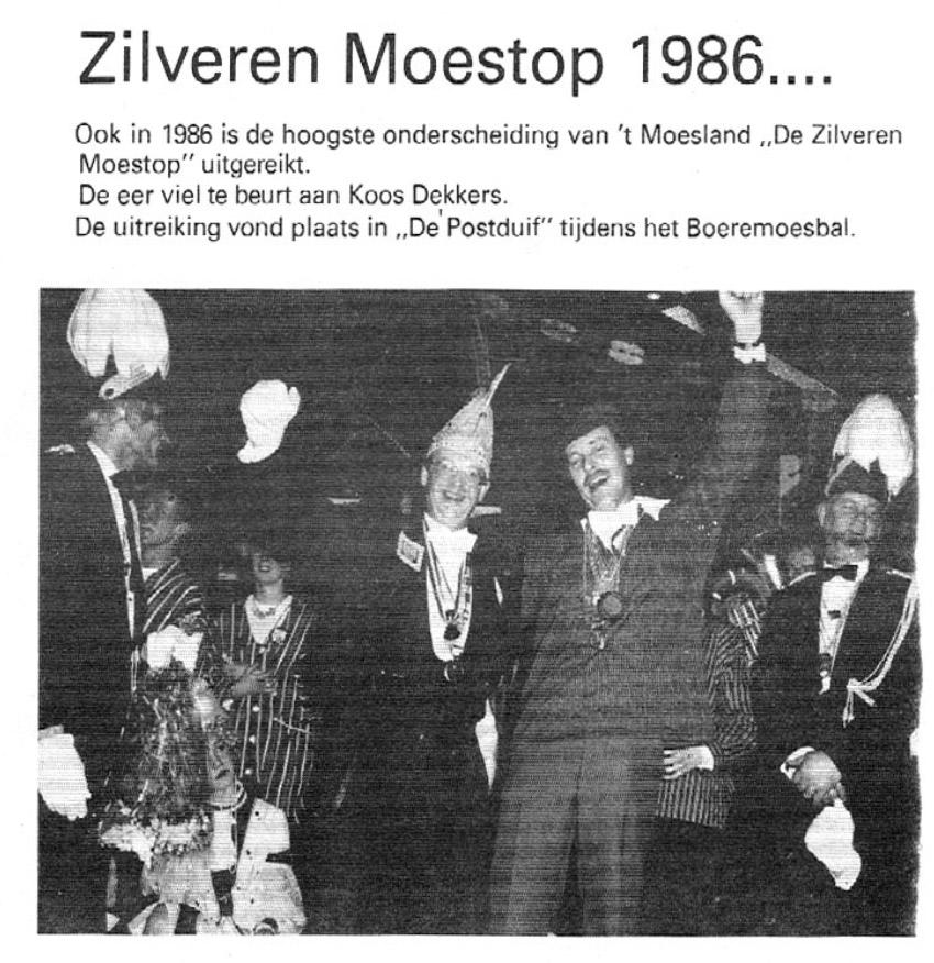 Stuk uit de carnavalskrant van de Bierviltjes - 1987